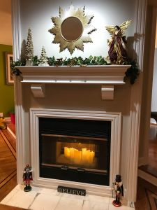 Custom Fireplace Mantel white