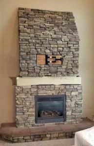 Fireplace Makeover Wrap Around Mantel