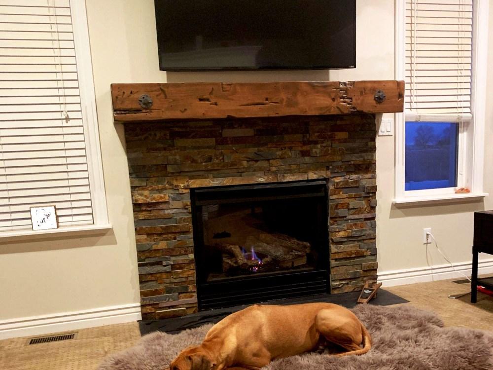 Custom Made Fireplace Mantel Distressed Finish