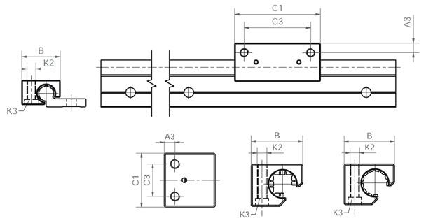drylin® W tandem housing for quick assembly