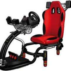 Hydraulic Racing Simulator Chair Black Chaise Lounge Igus® 4d-sitze