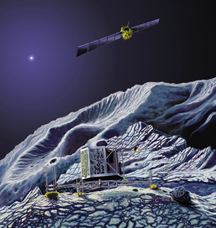 Rosetta and Philae will journey with 67P to uncover the roots of life.