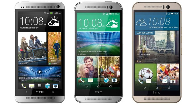 The last three years of HTC flagships: The One M7, M8, and M9.