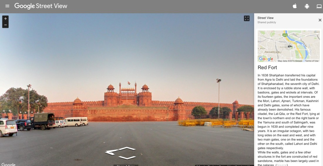 red fort street view