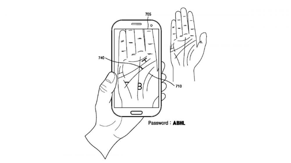 Samsung Patent Reveals Palm Scanning Security Feature For