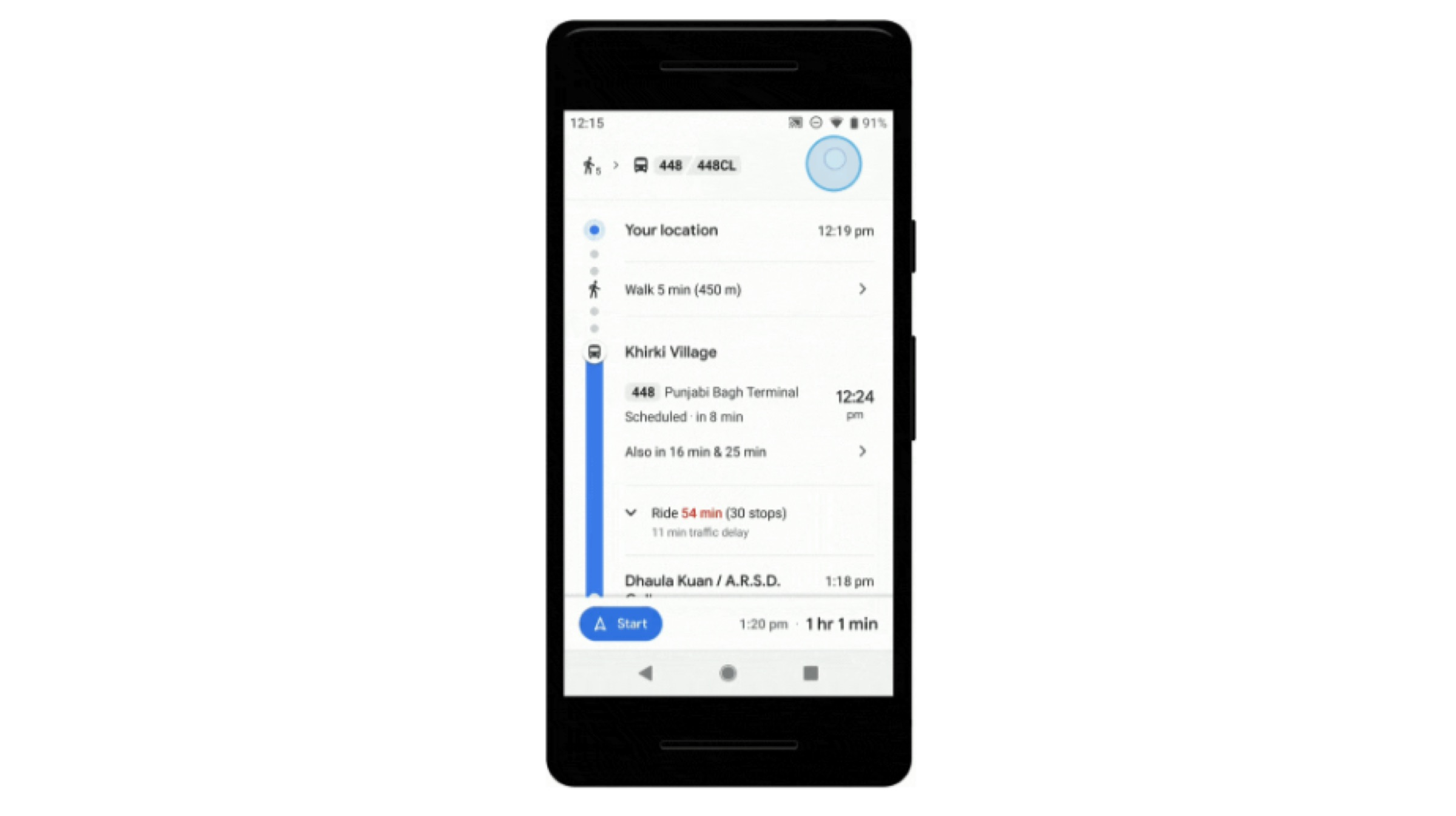 Google Maps Updated In India To Provide Public Transport