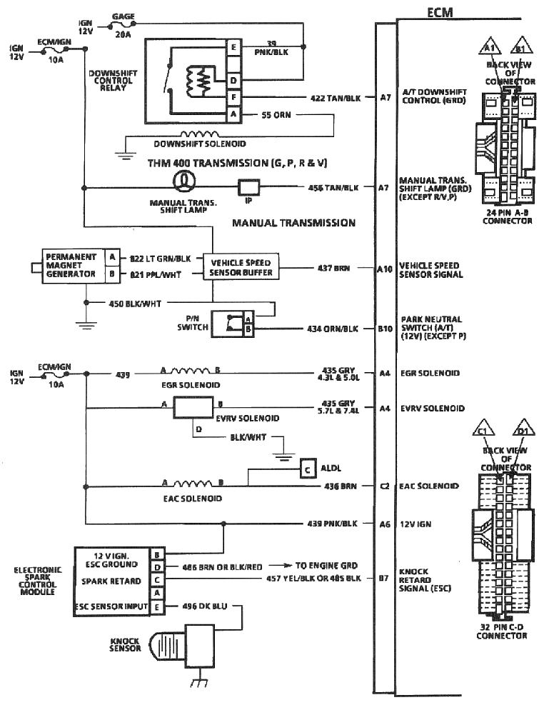 1989 Chevy C K Pickup Wiring Diagram Manual Original Tbi 350 Installation Land Cruiser Tech From Ih8mud Com