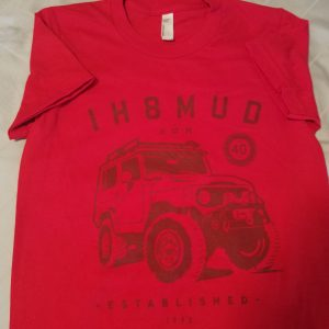 Ladies red FJ40 tee