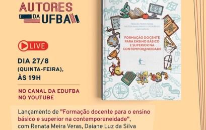 """Live de lançamento – livro """"Formação docente para o ensino básico e superior na contemporaneidade"""""""