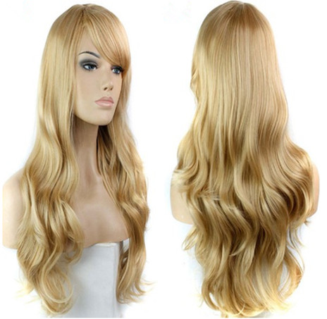 blonde wig synthetic long blonde wavy wigs for black white women