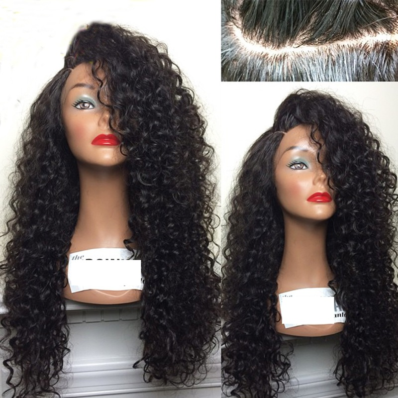 Lace Front Curly Wig Synthetic Long Kinky Curly Wigs For