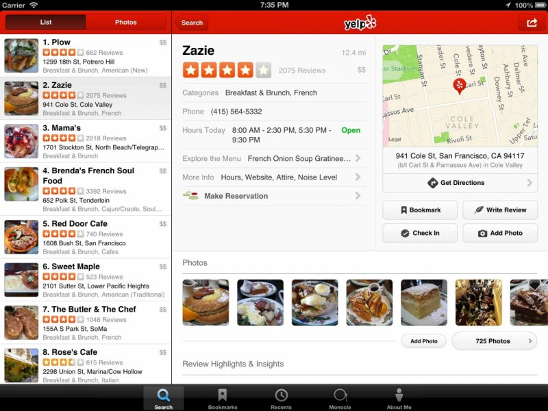 Yelp App Now Lets You Make Reservations at More Restaurants