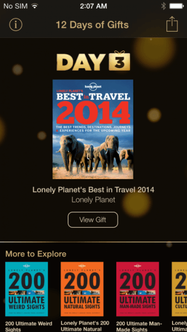 12 days of gifts lonely planet