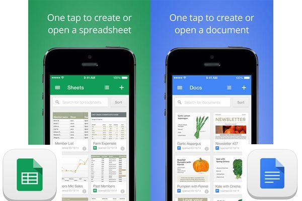 Google Docs and Google Sheets App Released for iOS - iHash
