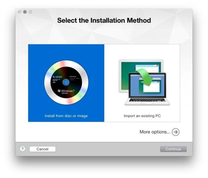 VMware Fusion add new virtual maschine 1