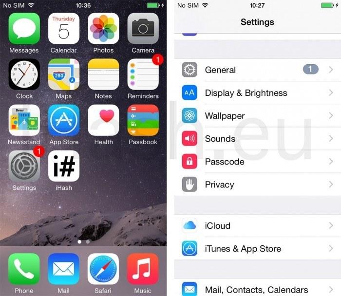 iPhone Settings general icloud