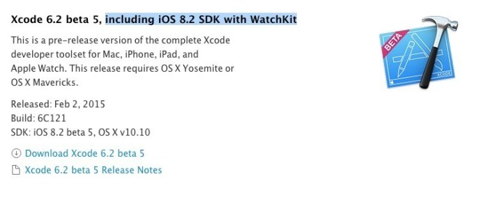 xcode 6.2 beta 5