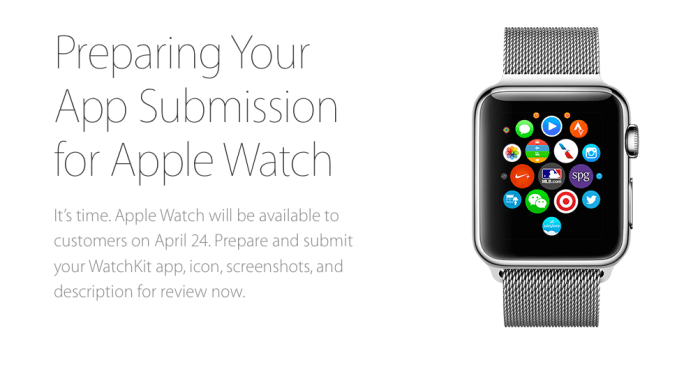 apple watch app submit