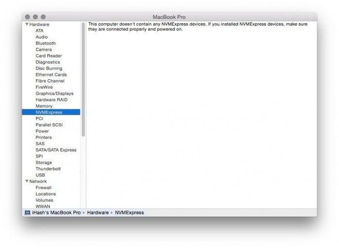 os x 10.10.3 system info