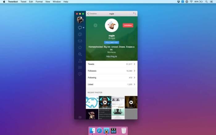 Tweetbot 2 App for OS X Yosemite 1