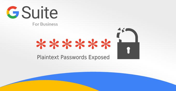 google g suite plaintext password
