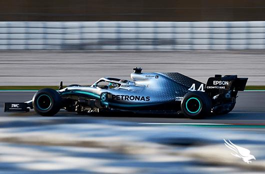 CrowdStrike's Mercedes F1 Car