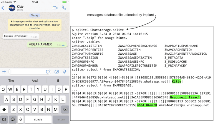 ios exploit hacking whatsapp