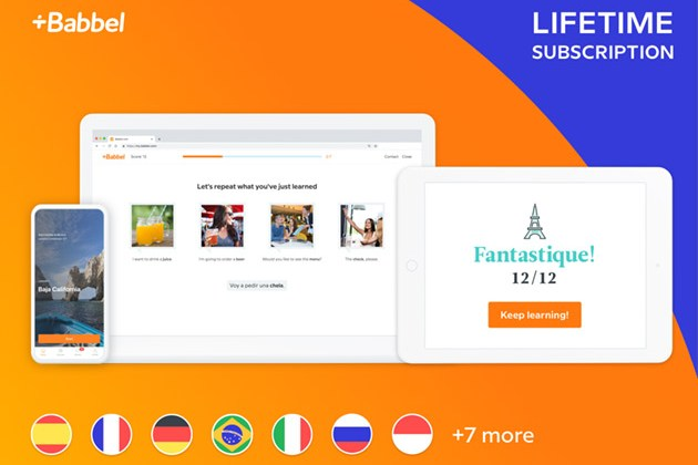 Babbel Language Learning: Lifetime Subscription (All Languages) for $159