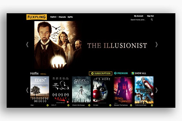 FlixFling Streaming Service: 1-Yr Subscription for $59