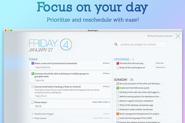 Pagico 9: Task & Data Management Software for $25