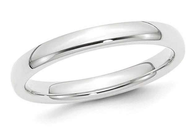Ladies Platinum Comfort Fit 3mm Wedding Band – 8.5 for $599