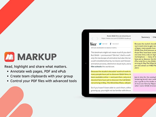 Markup iOS Pro Lite: Lifetime Subscription for $49
