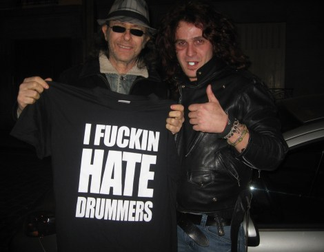 Jano Hanela Trust i fucking hate drummers t shirt