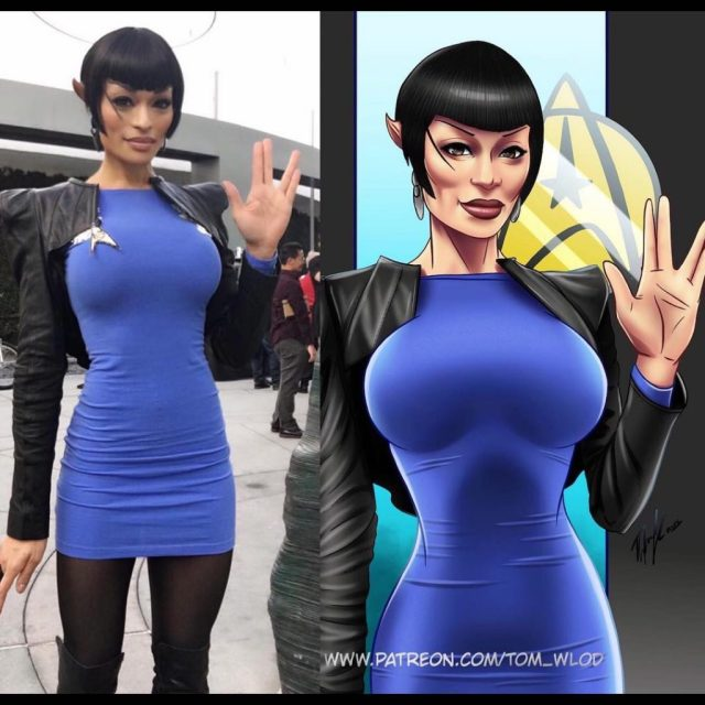 Alicia Marie on Instagram VULCAN will always be hard for me because Im so animated Check out artist tomwlod s take on my Spock inspired lewk for the blue