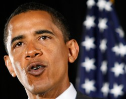 President Obama puckers up and prepares to kiss his presidency goodbye