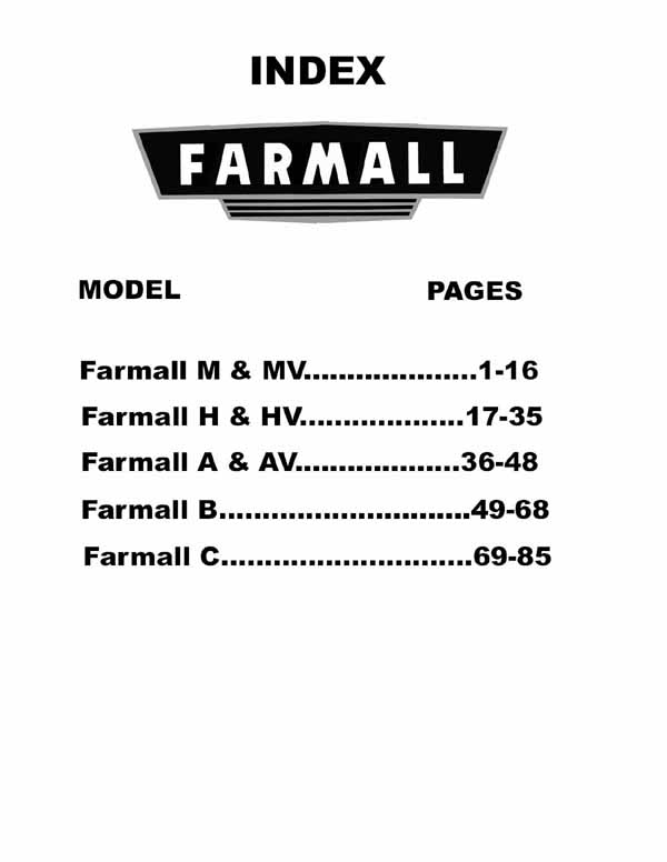 Farmall Electrical Wiring Diagrams