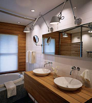 Home Decor  Wood Is Suitable for the Bathroom but