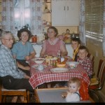 Sitting around the kitchen table in the 50s
