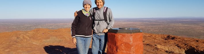 Greg & I on Uluru (Ayers Rock).