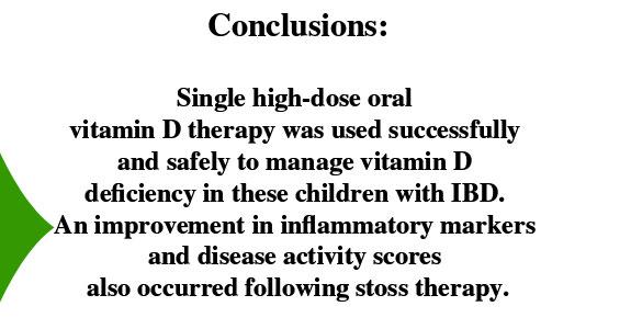 Vitamin D Therapy IBD Children Study