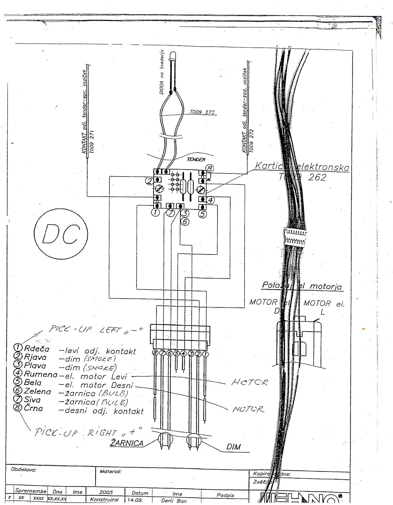 hight resolution of locomotive tender complete wiring harness double connection dcc ready dcc on board