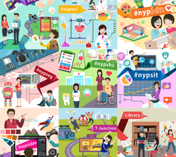 Illustrations for Nanyang Polytechnic - Creative Services
