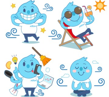 Illustration for UNIQLO LINE Stickers - Creative Services