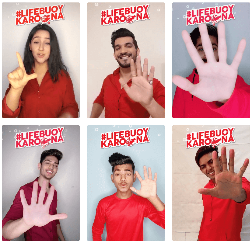 More #LifebuoyKarona hashtag videos by Indian TikTok influencers