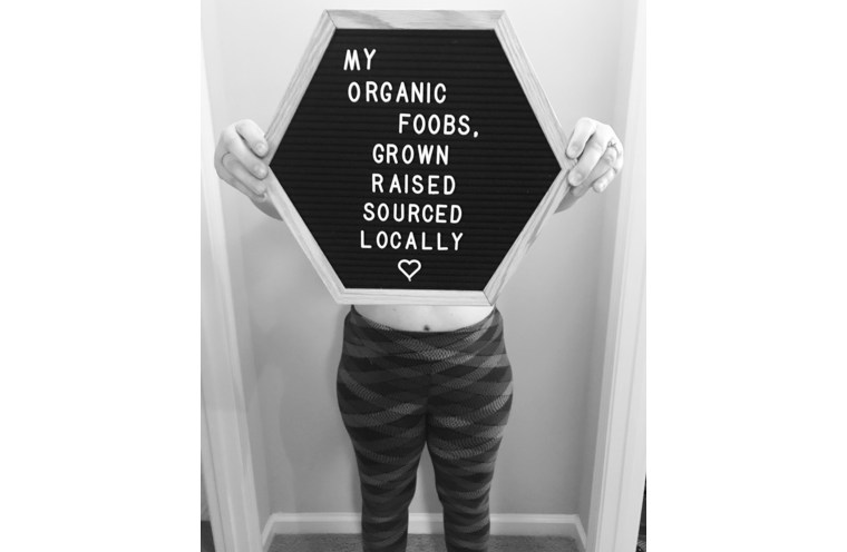 Organic Foobs Reveal with Letter board