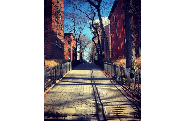 Brooklyn Heights brick walkway