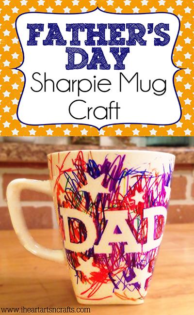 Easy Fathers Day Sharpie Mug Kids Craft