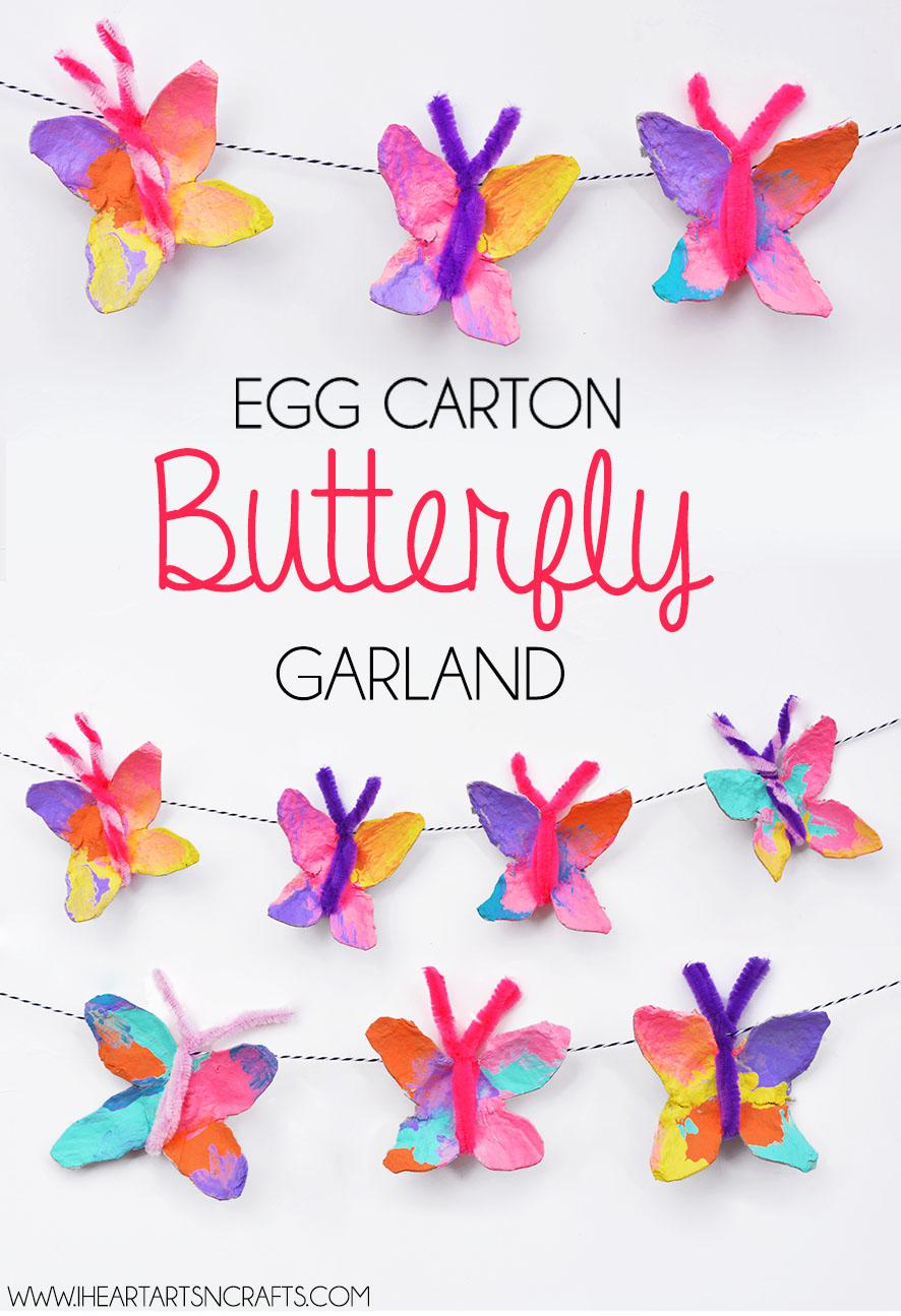 Egg Carton Butterfly Garland I Heart Arts N Crafts