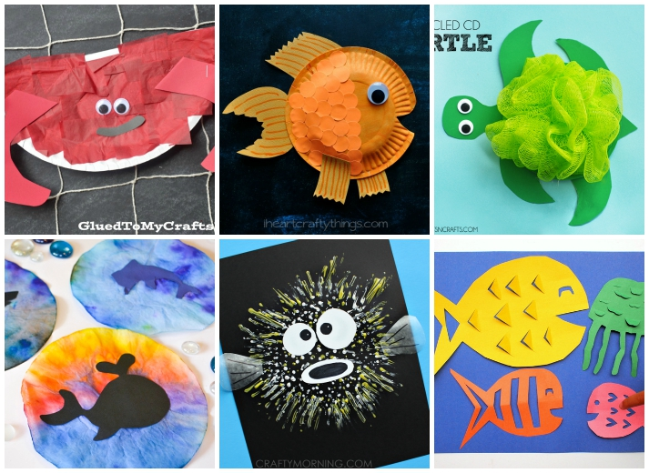Thanks to all the creative people who've made it a relatively simple affair to make a craft at home and you needn't spend excessi. 27 Ocean Crafts For Kids I Heart Arts N Crafts