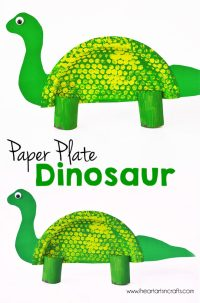 Paper Plate Dinosaur Kids Craft - I Heart Arts n Crafts